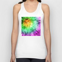tie dye Tank Tops featuring Colorful Tie Dye Design by Phil Perkins