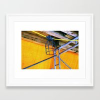 cage Framed Art Prints featuring Cage  by Ethna Gillespie