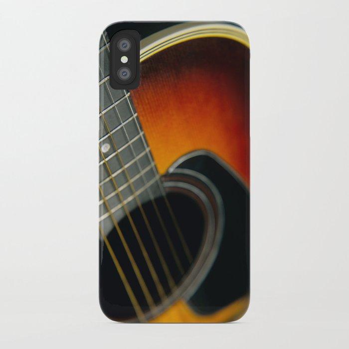 Guitar - Acoustic close up iPhone Case