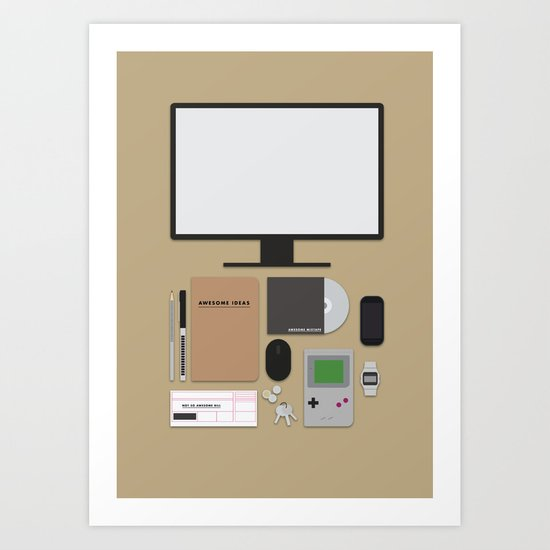 Awesome stuff. Art Print