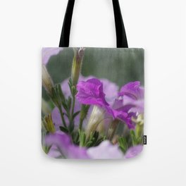 Blossoms in purple Tote Bag