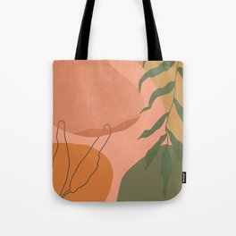Terra abstract shapes and plants II Tote Bag