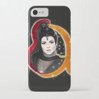 evil queen iPhone & iPod Cases featuring Regina, The Evil Queen by Clara J Aira