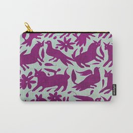 Otomi Magenta Carry-All Pouch