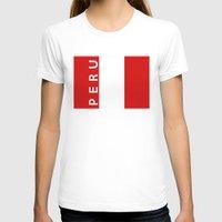 peru T-shirts featuring flag of Peru by tony tudor