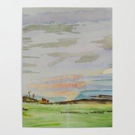 Landscape clouds Poster