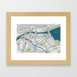 The Streets of Zurich Framed Art Print