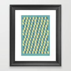 Honeydrop Leaves Framed Art Print