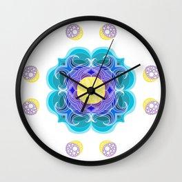 Ocean Mandala Wall Clock