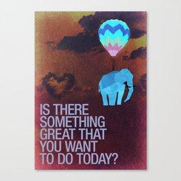 Elephants can fly. Canvas Print