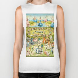 The Garden of Earthly Delights by Bosch Biker Tank