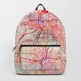 Grand Rapids map Michigan painting Backpack