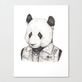 Punk Rock Panda Canvas Print