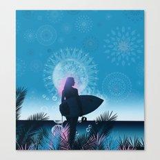 blue summer Canvas Print