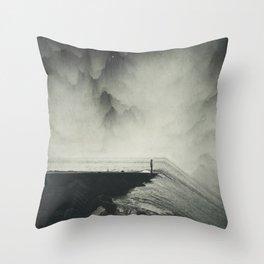 Vertigo Ocean - Inclined Seascape Throw Pillow