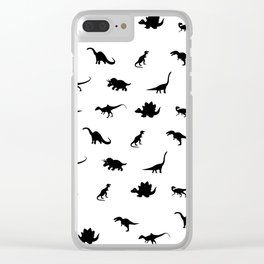 Dinosaurs pattern Clear iPhone Case