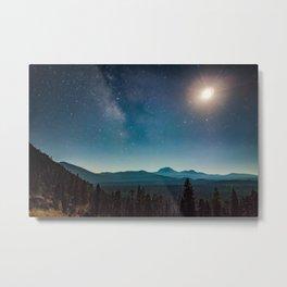 Lassen Starlight Metal Print