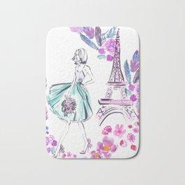 Paris Roses Bath Mat