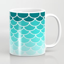 Ombre Fish Scale Pattern Coffee Mug