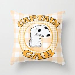 Captain Cab. Throw Pillow