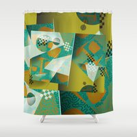 planes Shower Curtains featuring Planes by DARWIN STEAD