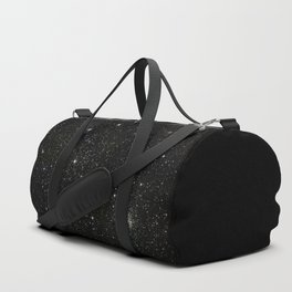 Universe Space Stars Planets Galaxy Black and White Duffle Bag