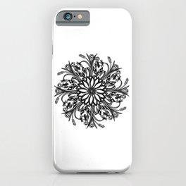 """Meditations Of Nature"" No.1   Perpetual Floral Mandala iPhone Case"