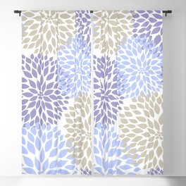 Periwinkle Floral Bouquet Blackout Curtain