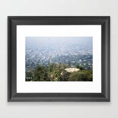 Los Angeles Hikers Framed Art Print