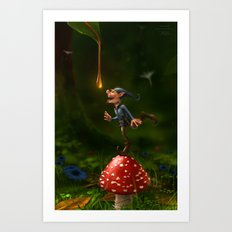 Honey Drops Art Print