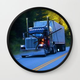 The Revelstoke Run Cargo Truck Wall Clock