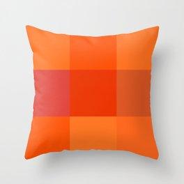 Orange palette Throw Pillow