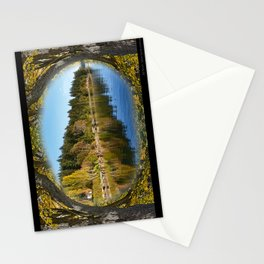 DEER HARBOR FRAMED IN MAPLES ON ORCAS ISLAND Stationery Cards
