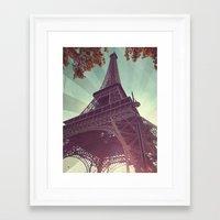 eiffel tower Framed Art Prints featuring Eiffel Tower by Rhianna Power