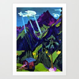 Mountain Landscape in the Sun by Ernst Ludwig Kirchner Art Print
