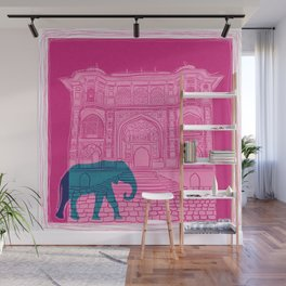 Indian palace and elephant Wall Mural