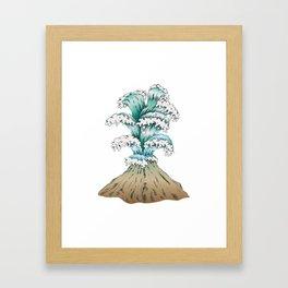 Wave Eruption Framed Art Print