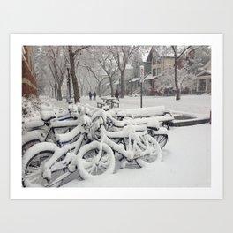 Let's Snow! Art Print