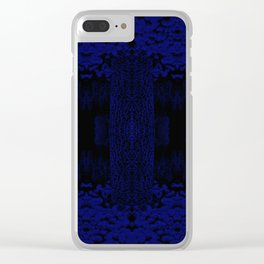 Blue Chamber Clear iPhone Case