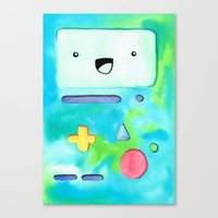 bmo Canvas Prints featuring BMO by Lauren Reed Art