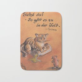 GrimmSeries2 - Cat and mouse Bath Mat