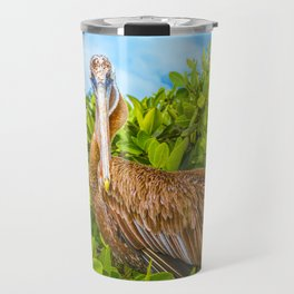 Big Pelican at Tree, Galapagos, Ecuador Travel Mug