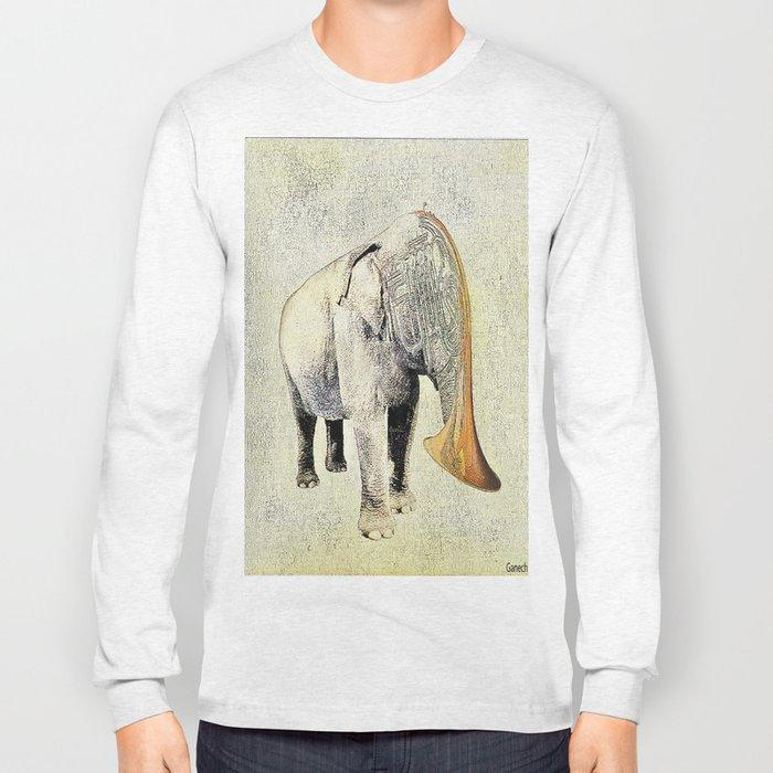 the elephant musician Long Sleeve T-shirt