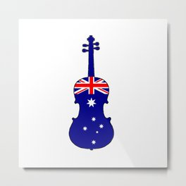 Australian Flag - Viola Metal Print