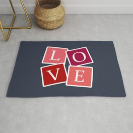 Love text design Rug