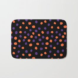 Orange and purple clemson polka dots university college alumni football fan gifts Bath Mat