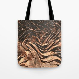 Macro Copper Abstract Tote Bag