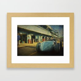 Vintage Racer in the Pits Framed Art Print