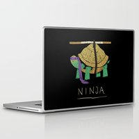 ninja turtle Laptop & iPad Skins featuring ninja - purple by Louis Roskosch