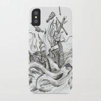 kraken iPhone & iPod Cases featuring Kraken by Incirrina